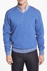 Peter Millar Merino Wool Vneck Sweater - Lyst