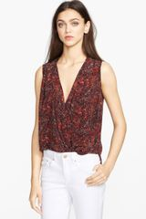 Rachel Zoe Kiara Silk Highlow Blouse - Lyst