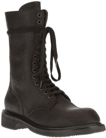 Rick Owens Lace and Zip Boot - Lyst