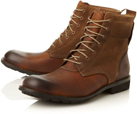 timberland casual boots in brown for men  lyst