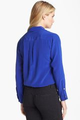 Two By Vince Camuto Silk Utility Shirt - Lyst