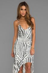 Tylie Tribal Stripe High Low Dress in Ivory - Lyst