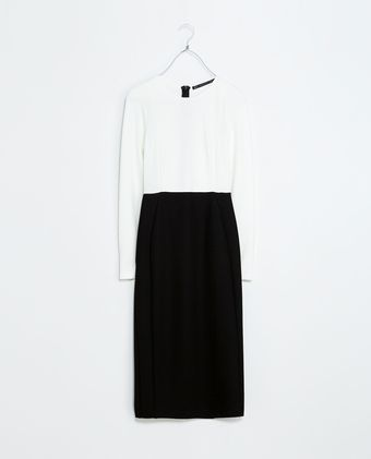 Zara Twotone Tube Dress - Lyst