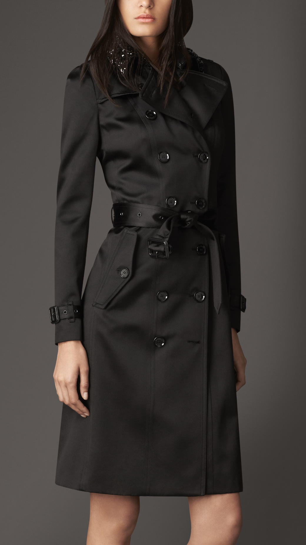 burrberry outlet shsd  burberry satin trench coat