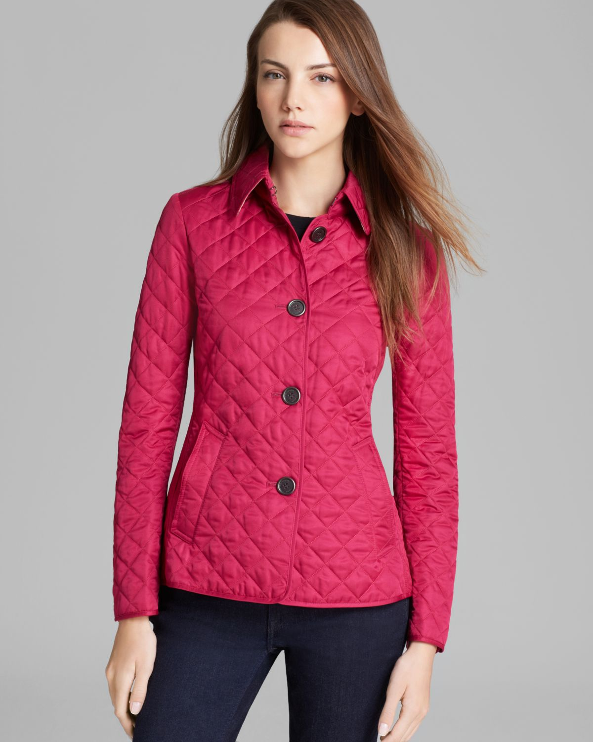 Burberry Brit Copford Quilted Jacket in Purple | Lyst