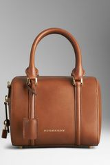 Burberry Small Sartorial Leather Bowling Bag - Lyst