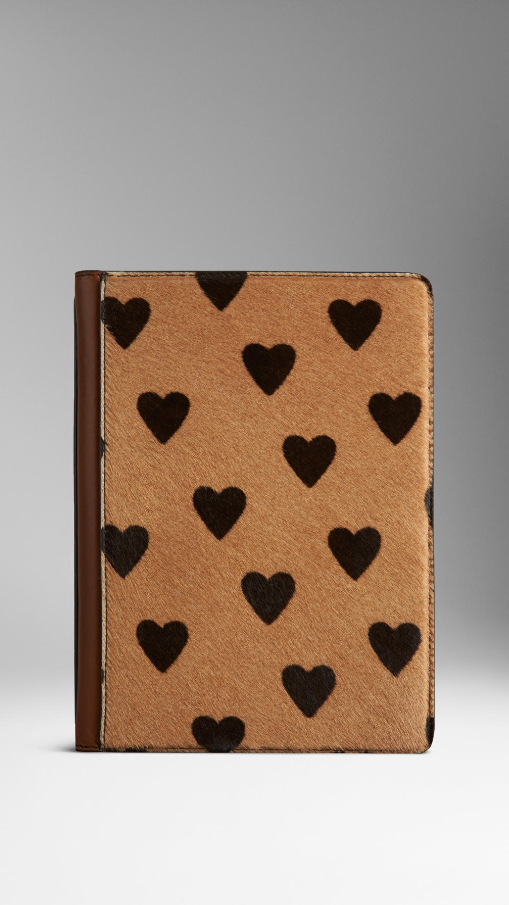 bab1c37b7a2f Lyst - Burberry Heart Print Calfskin Ipad Mini Case in Black