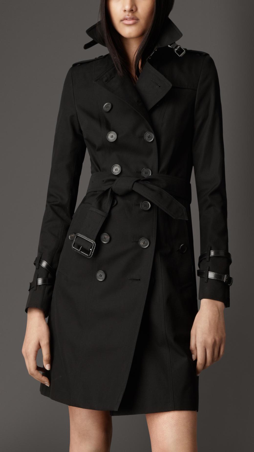 Womens black trench coats