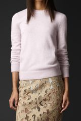 Burberry Twist Back Cashmere Sweater - Lyst
