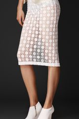 Burberry Geometric Floral Lace Skirt - Lyst