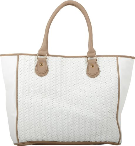 Deux Lux Greenwich Tote Bag In White Gold Lyst