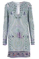 Emilio Pucci Embellished Tunic Dress - Lyst