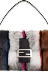 Fendi Colorblock Mink Baguette Bag - Lyst