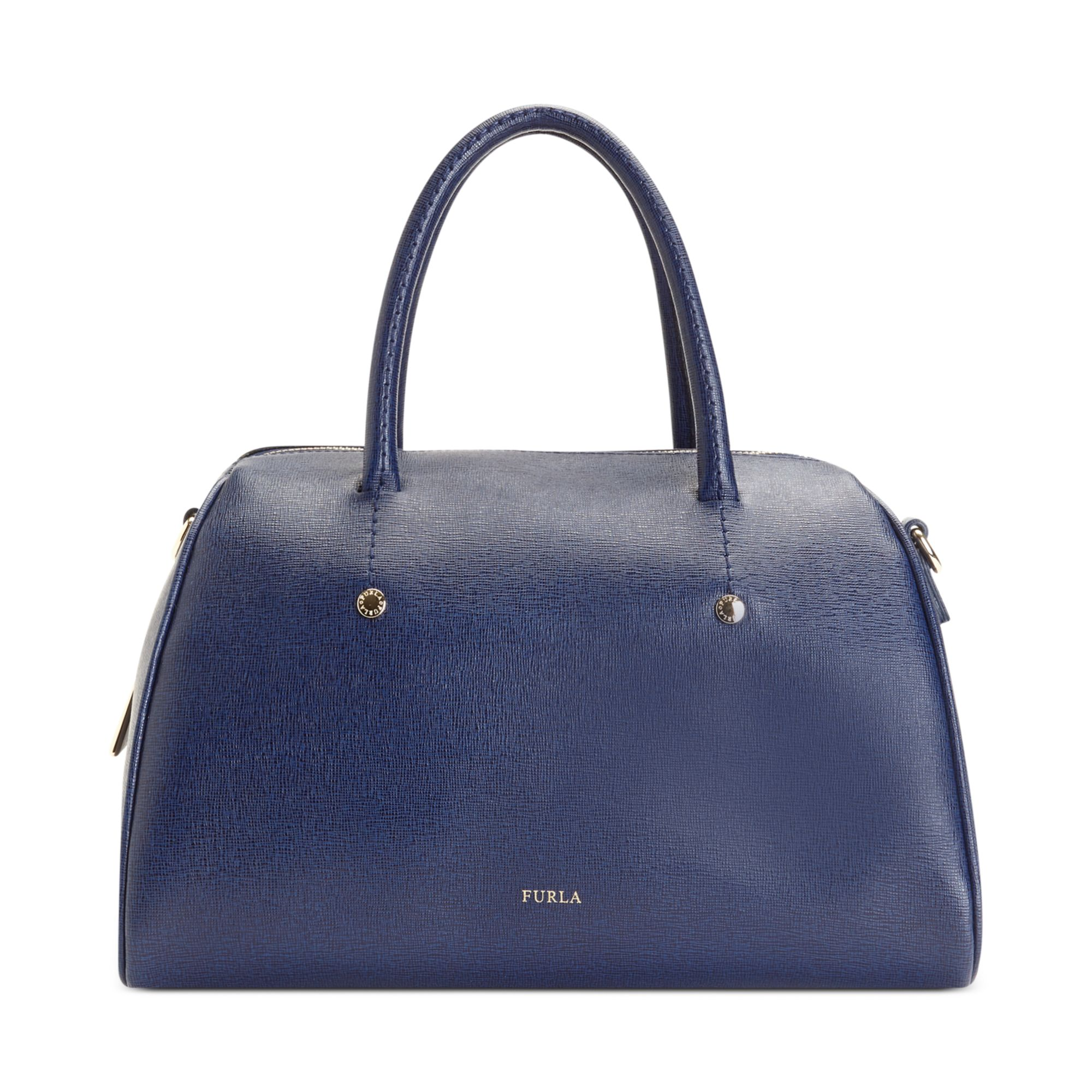 Furla Arianna Medium Saffiano Bauletto Bag in Blue (Ink)