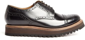 Grenson Lucy Chocolate Gateux Wedge Brogues - Lyst