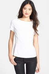 Halogen Back Zip Top - Lyst