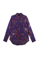 House Of Holland Brooch Silk Shirt - Lyst