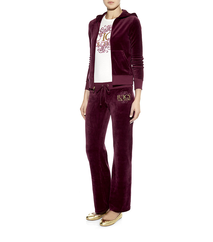 d311859e1b78 Juicy Couture Swirl Logo Bootcut Tracksuit Pants in Red - Lyst