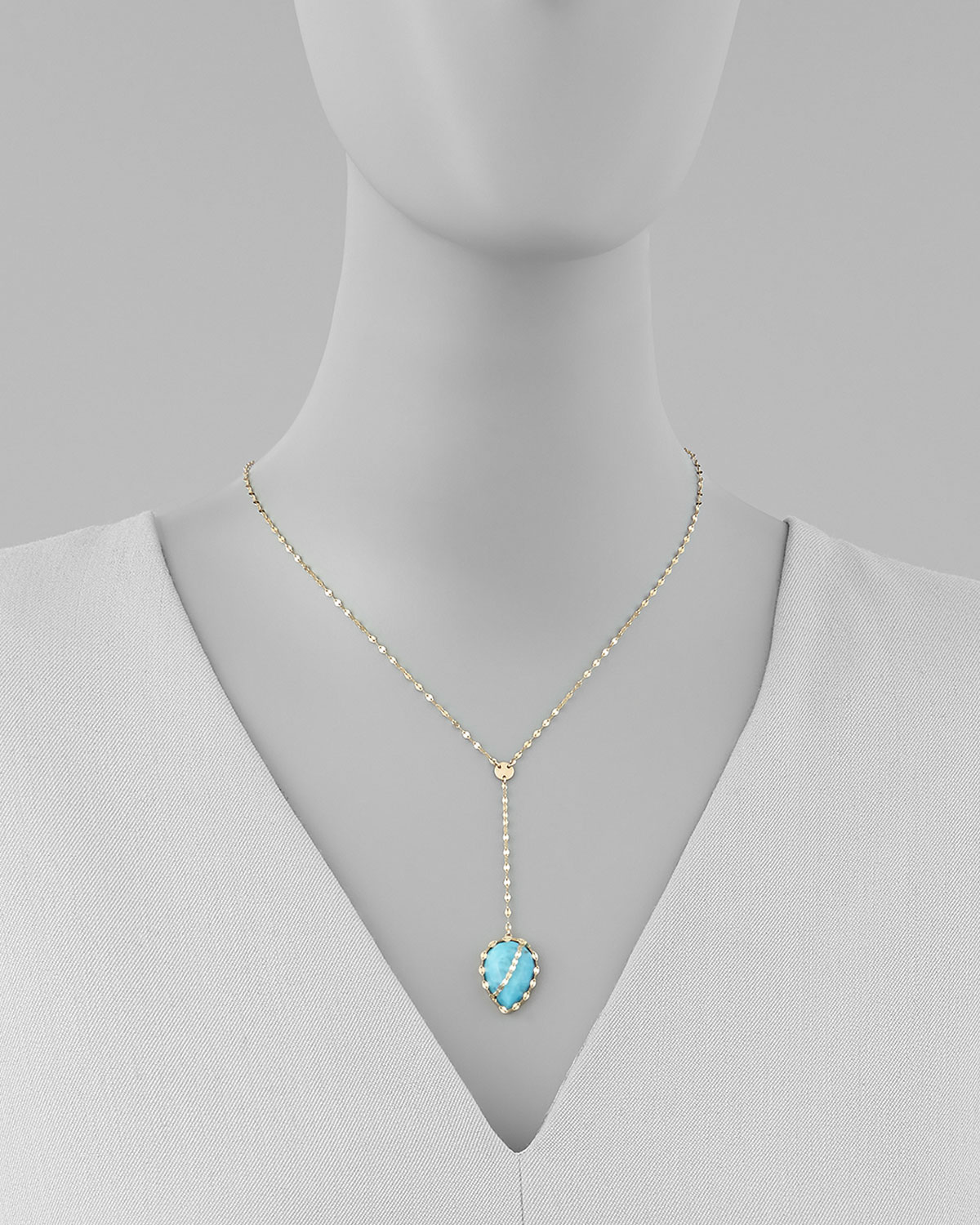 Lyst Lana Jewelry Turquoise Lariat Necklace in Metallic