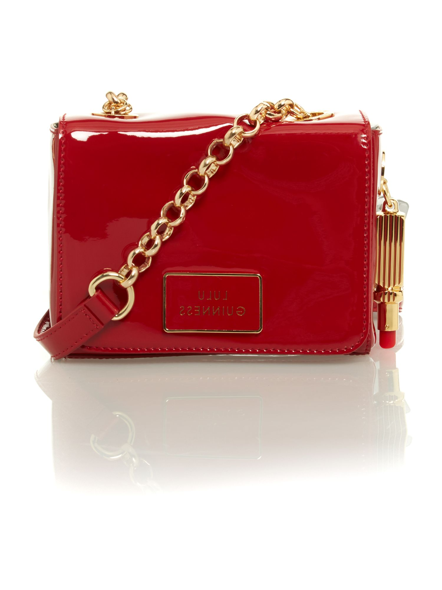 40c934395fb Lyst - Lulu Guinness Red Patent Small Crossbody Bag in Red