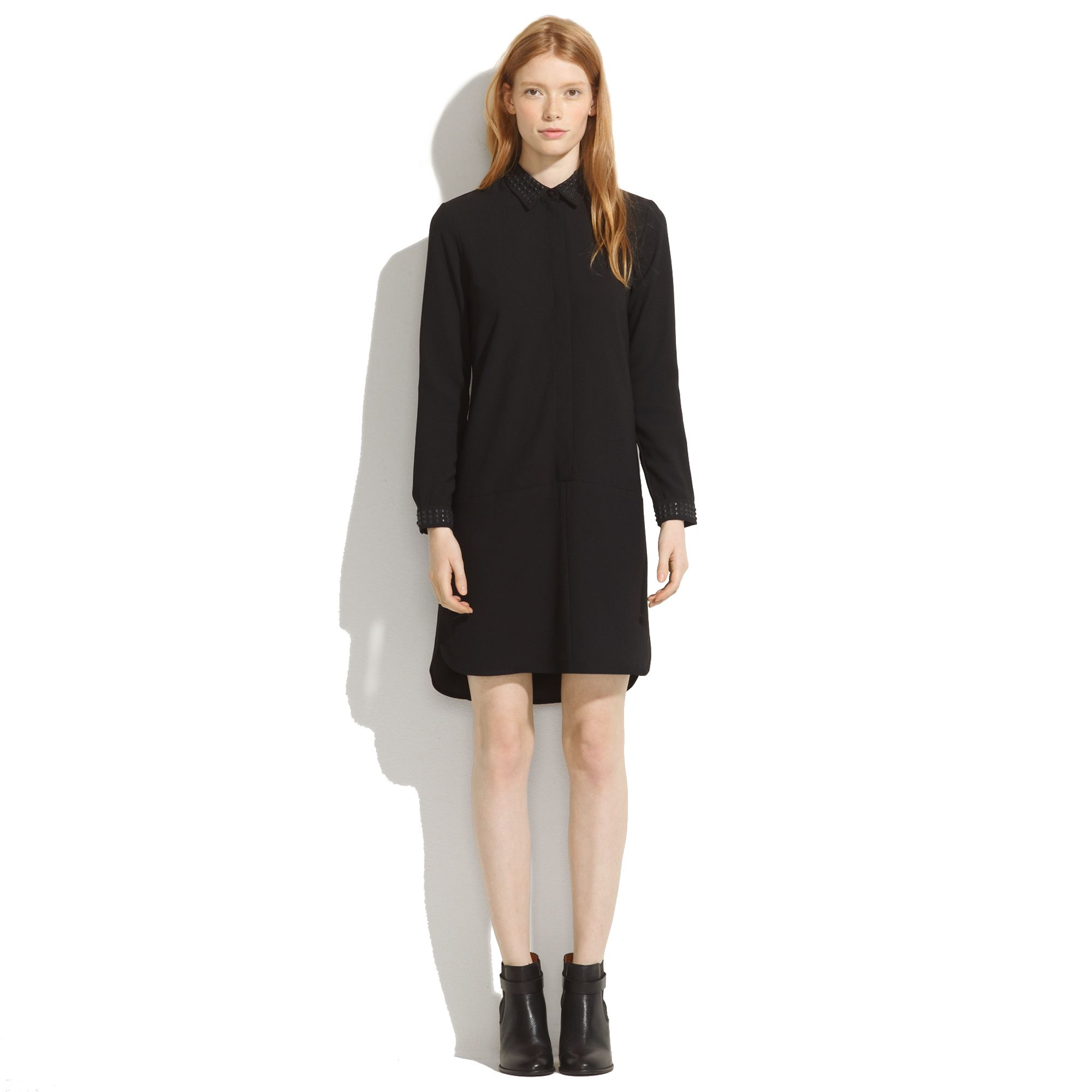 Madewell Long Sleeve Tunic Dress in Black - Lyst