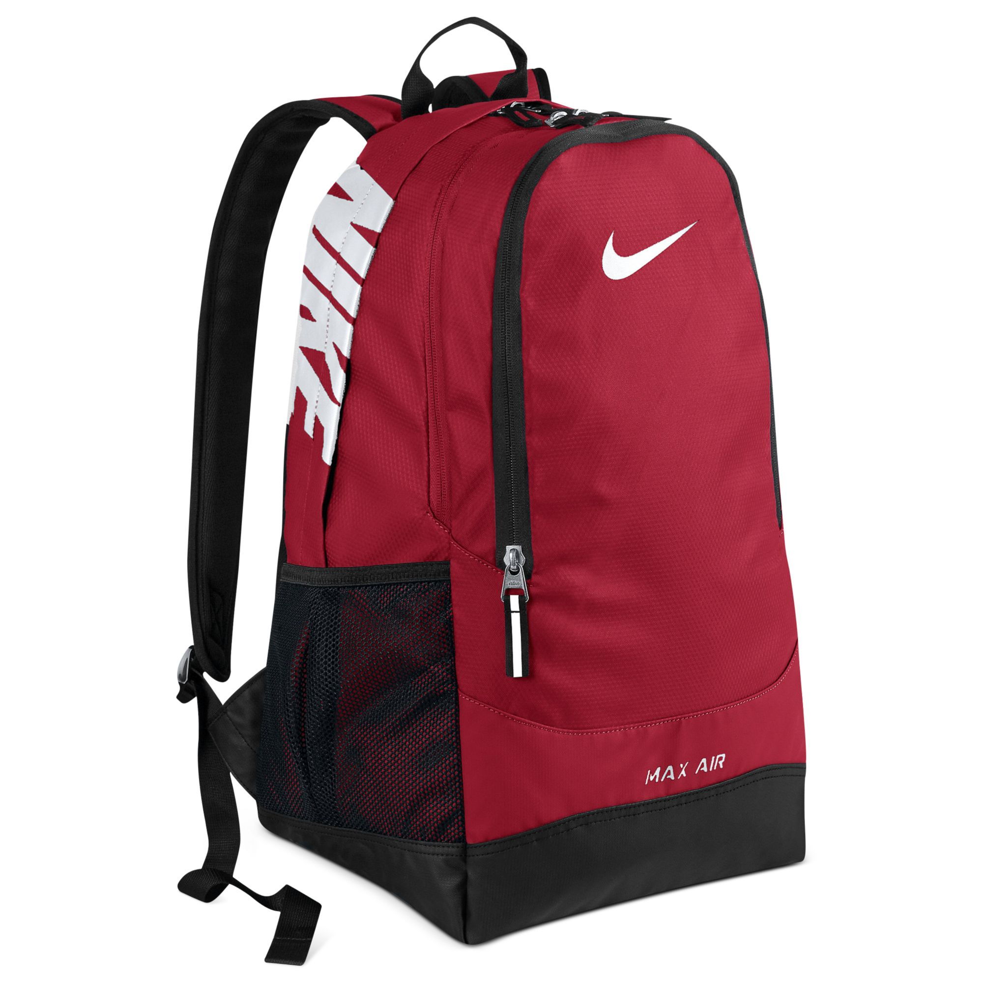 nike max air team training large backpack - gym red 11s