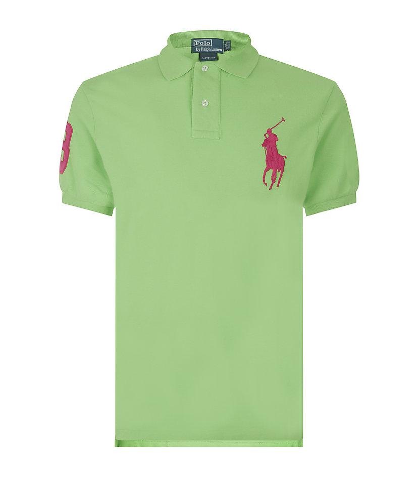 Polo Ralph Lauren. Green Custom Fit Big Pony Polo Shirt