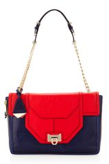 Rebecca Minkoff Allie Two-Tone Flap Shoulder Bag  - Lyst