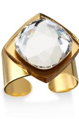 Sandy Hyun Crystal Statement Cocktail Ring - Lyst