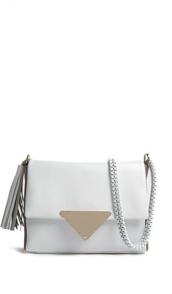 Sara Battaglia Teresa Tassel Shoulder Bag In White  - Lyst