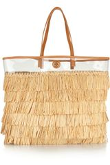 Tory Burch Molly Raffia and Pvc Tote - Lyst
