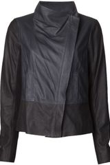 Vince Leather Asymmetrical Jacket - Lyst