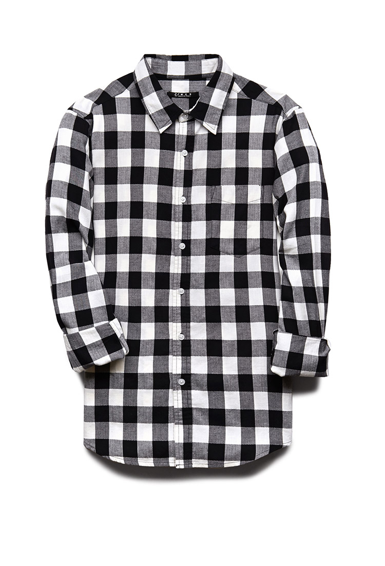 mens black and white plaid shirt custom shirt