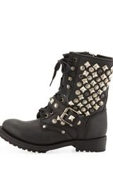 Ash Ryanna Studded Boot Black in Black - Lyst