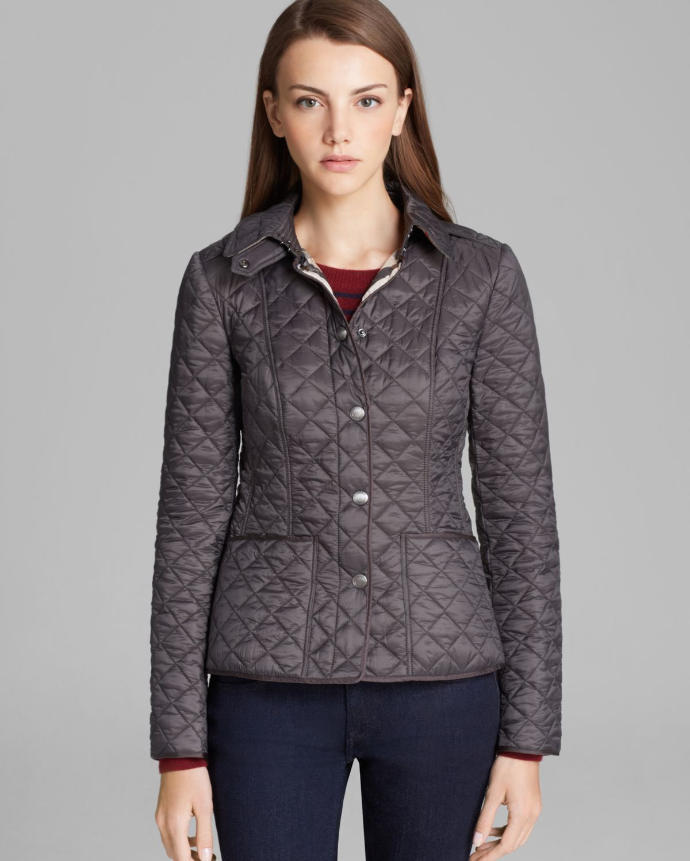 burberry brit kencott quilted jacket in gray lyst. Black Bedroom Furniture Sets. Home Design Ideas