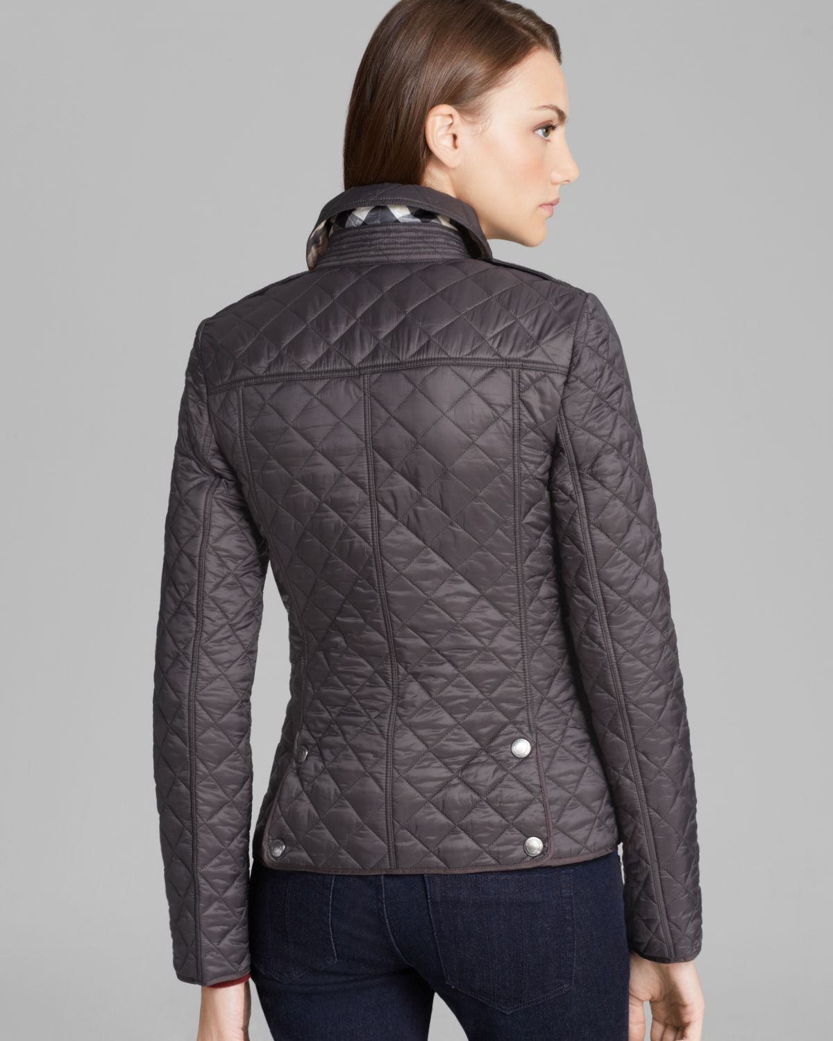 Lyst Burberry Brit Kencott Quilted Jacket In Gray