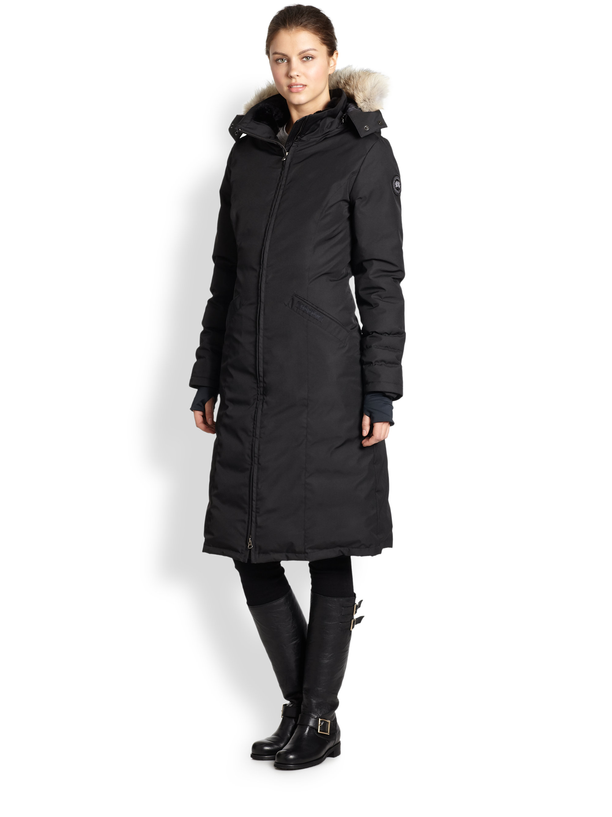 Canada goose Black Label Elrose Down Parka in Blue | Lyst