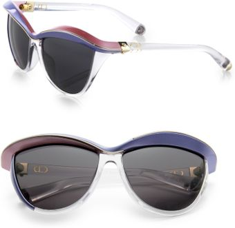 Dior Oversized Catseye Sunglasses - Lyst