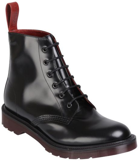 Dr. Martens Mens Made in England Pietro Leather Low Boots in Black for Men