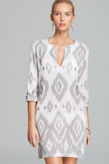 Echo Island Ikat Sequined Tunic Swim Coverup - Lyst