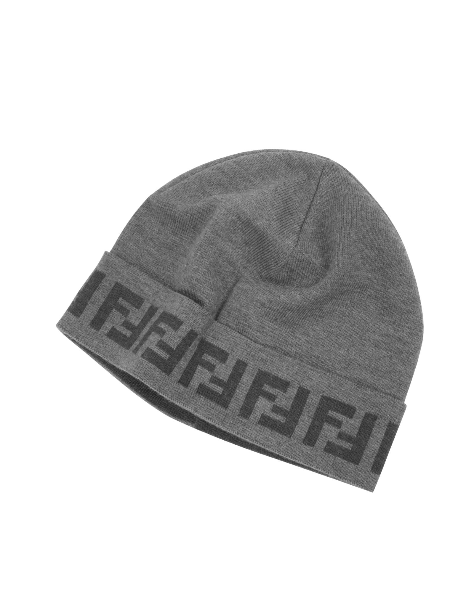 FF logo patch beanie - Grey Fendi 2EuE9RPML8