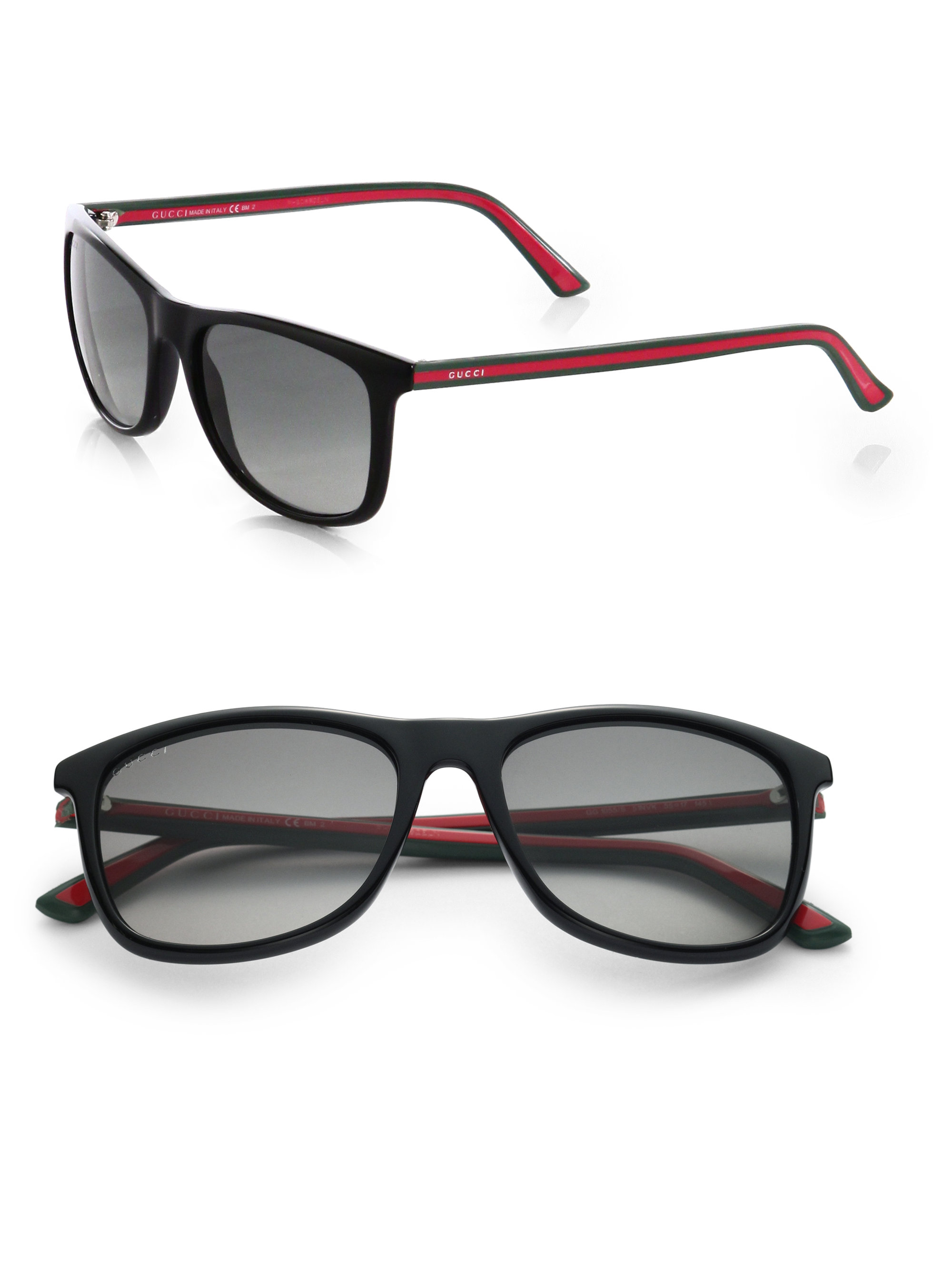 Gucci Injected Propionate Two Two Wayfarer Sunglasses In