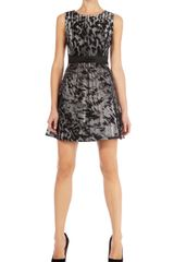 Karen Millen Fur Print Prom Dress - Lyst