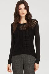 Kenneth Cole Haylee Open Knit Sweater - Lyst