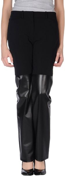 Laltramoda Leather Trousers - Lyst