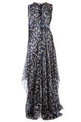 Maison Rabih Kayrouz Animal Print Draped Gown - Lyst