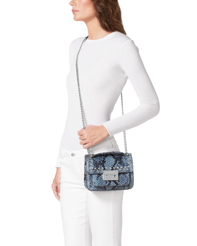 Michael Kors Michael Small Sloan Jeweled Shoulder Flap Bag
