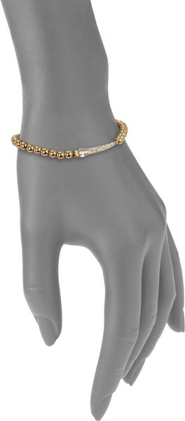 Michael Kors Pavé Horn Beaded Stretch Bracelet - Lyst
