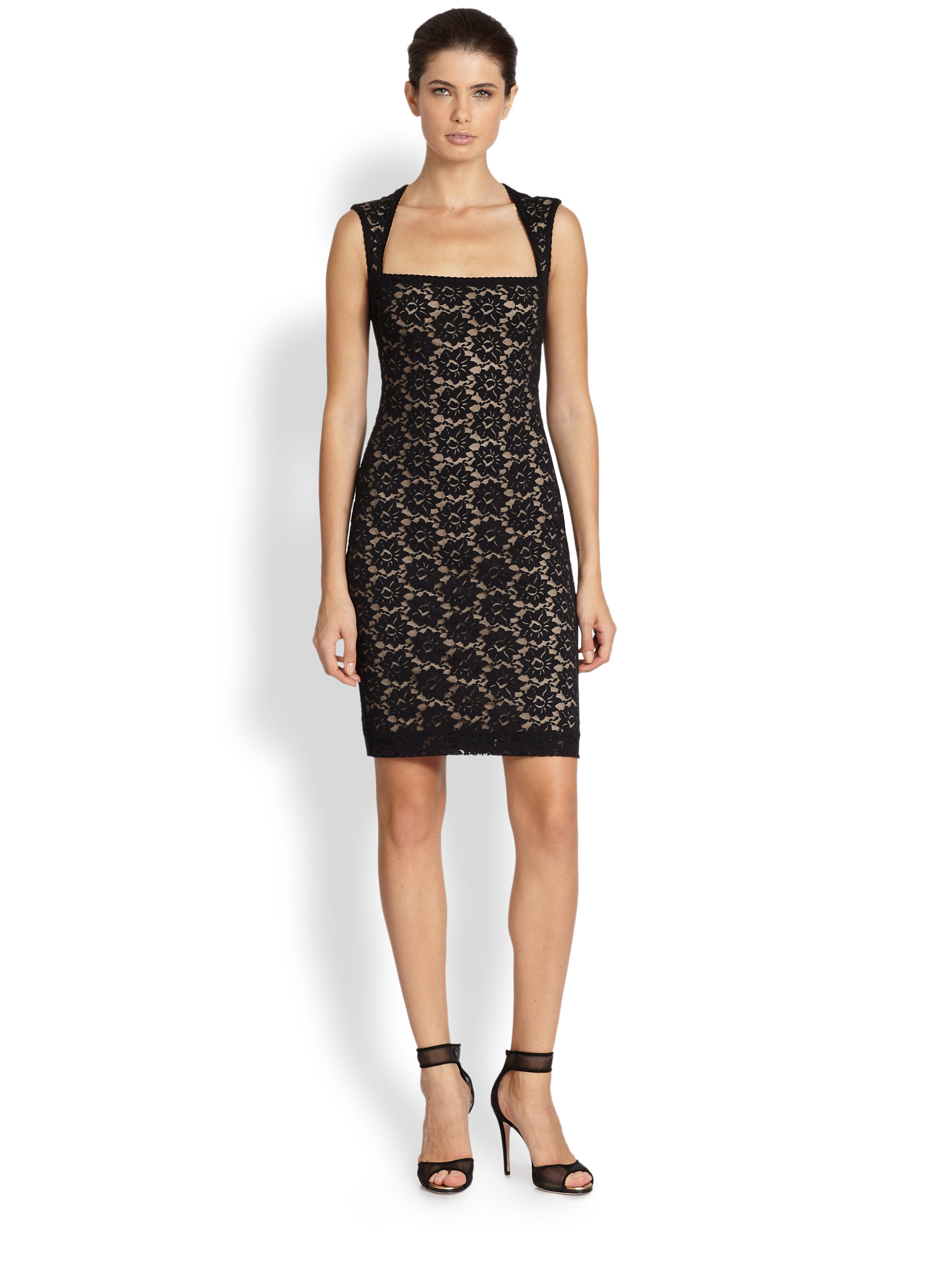 Lyst Nicole Miller Felicity Floral Lace Cocktail Dress In Black