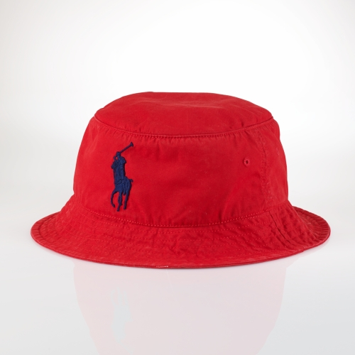 Lyst - Polo Ralph Lauren Beachside Bucket Hat in Red for Men 47ae823f0beb